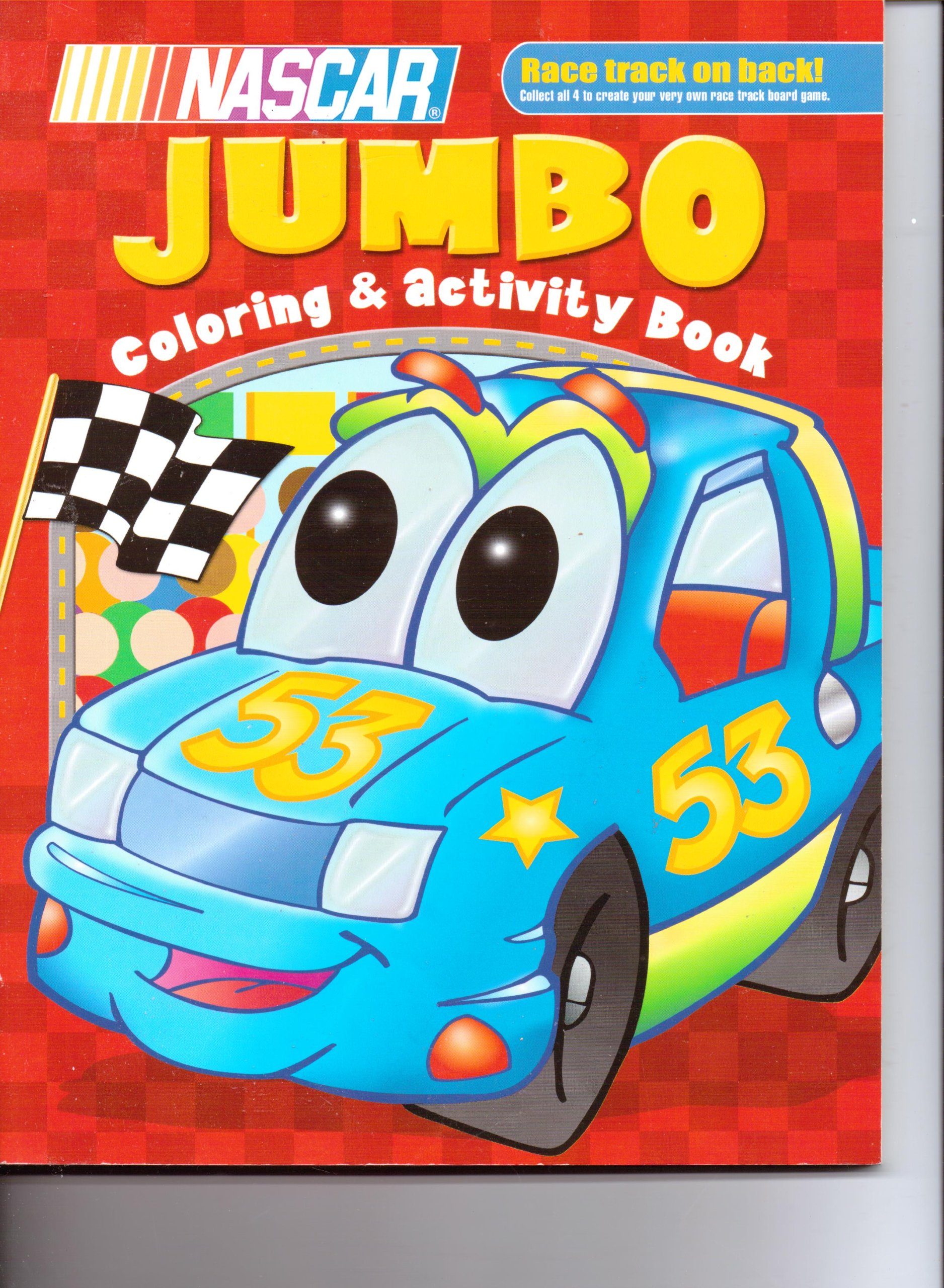 Nascar Jumbo Coloring Book | Coloring Pages