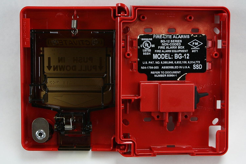 Bg 12 Firelite Fire Alarm Pull Station Industrial Warning Alarms Signaling Line Circuit Wiring Manual
