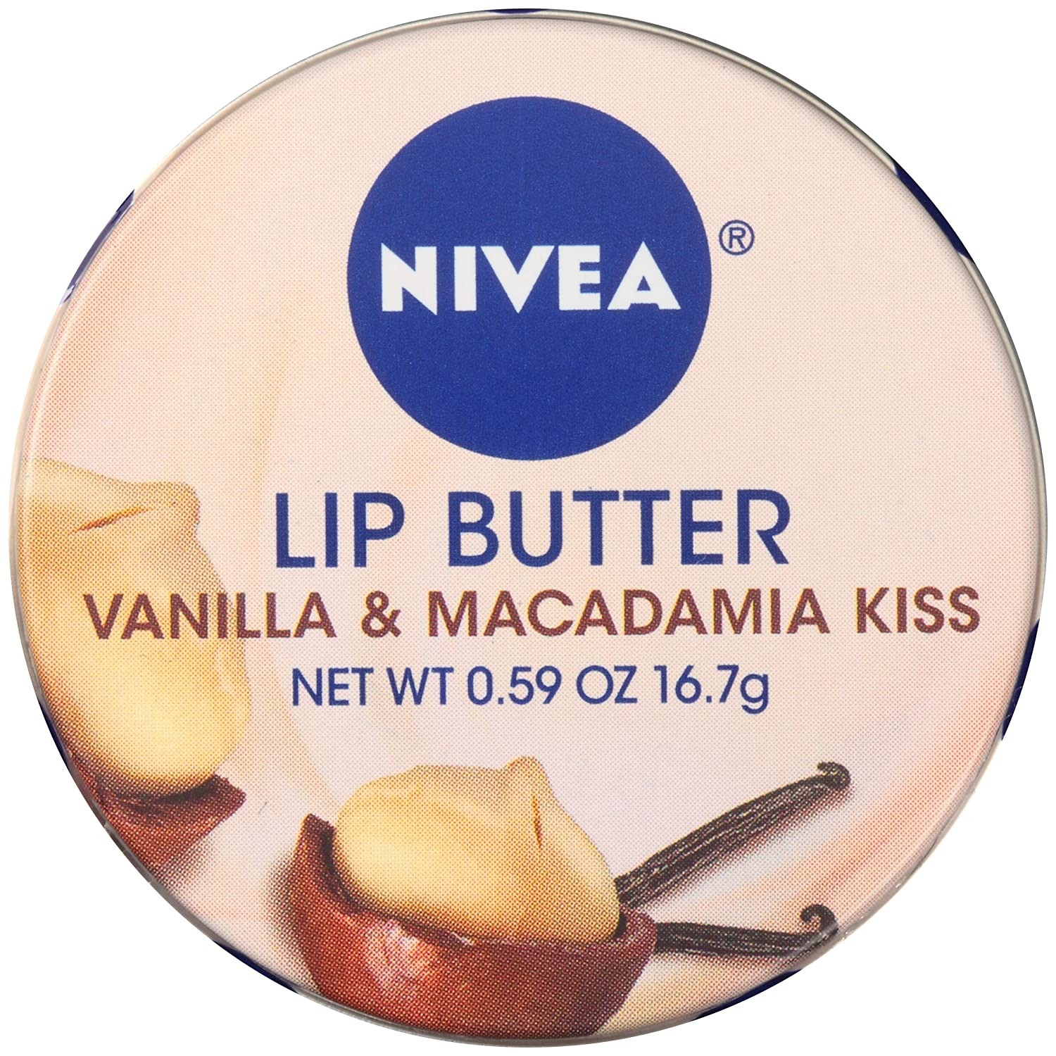 NIVEA Lip Butter Loose Tin, Raspberry Rose Kiss, 0.59 Ounce Bod-8014