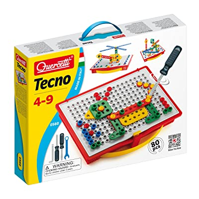 Quercetti Tecno - 80 Piece Building Set: Toys & Games