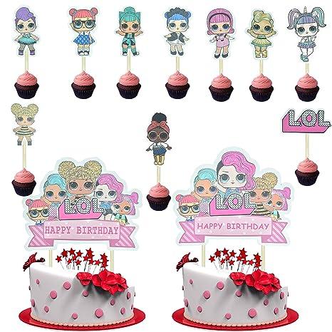 Amazon.com: 22 piezas LOL para decoración de tartas ...