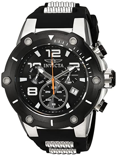 fae06c1bbba5 Invicta Men s  Speedway  Swiss Quartz Stainless Steel and Polyurethane Casual  Watch