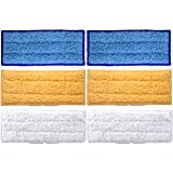 Lontenrea 6 Pack Microfiber Washable Wet and Dry Replacement Mopping Pads For iRobot Braava Jet 240 241 Cleaner (2 pcs Wet + 2 pcs Damp + 2 pcs Dry)