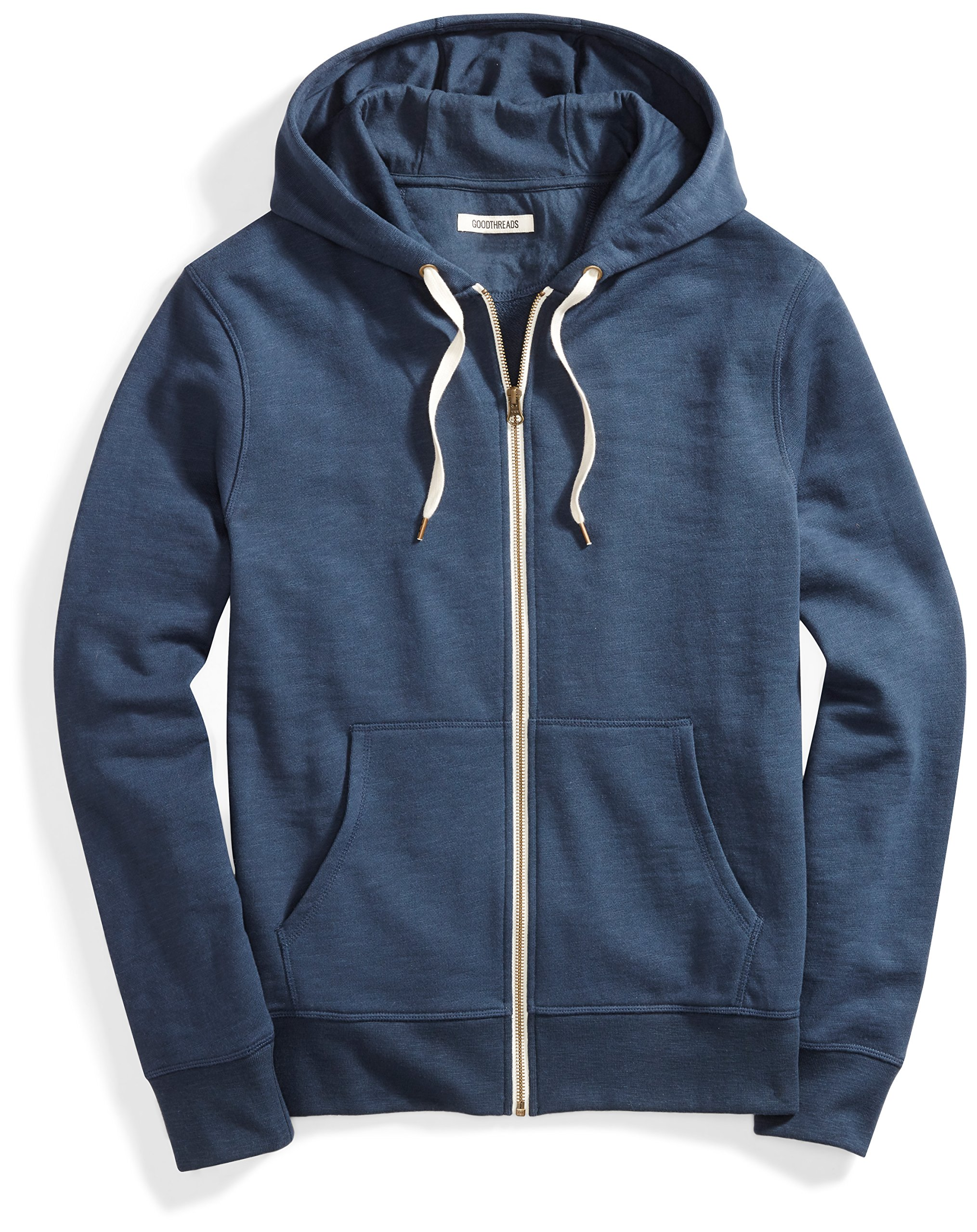Goodthreads Men's French Terry Full-Zip Hoodie, Navy Eclipse, Large by Goodthreads (Image #1)