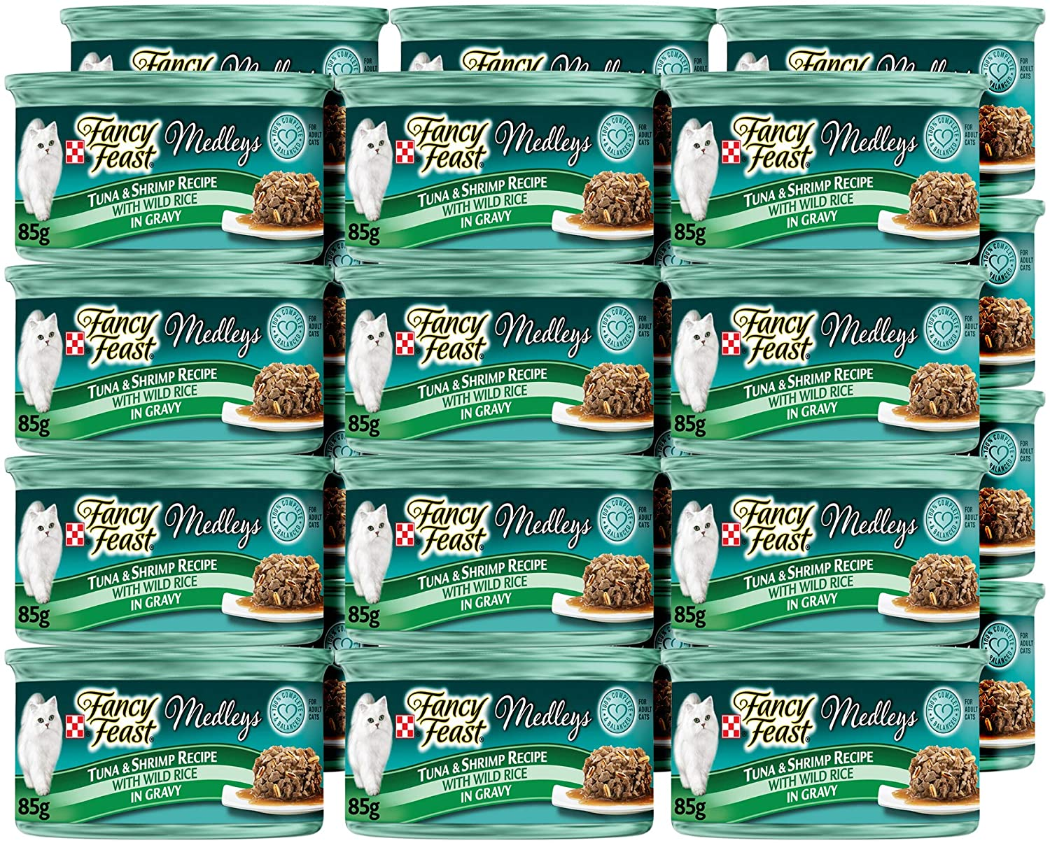 Purina Fancy Feast Gravy Wet Cat Food, Medleys Tuna & Shrimp Recipe With Wild Rice in Gravy - (24) 3 oz. Cans