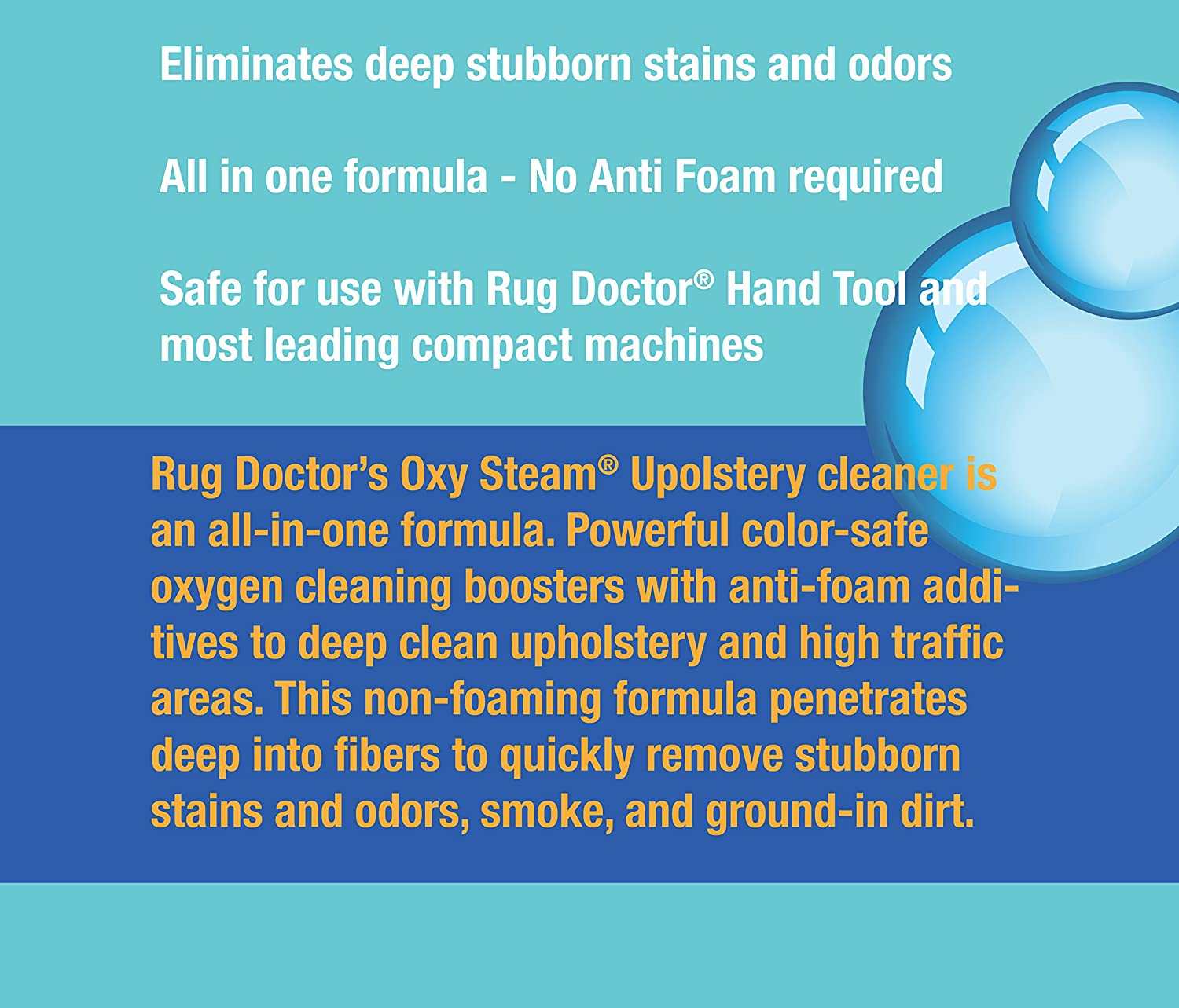 High Quality Amazon.com: Rug Doctor Oxy Steam Upholstery Cleaner Solution, Deep Cleans  And Extracts Stains And Dirt From Upholstery And Soft Surfaces, 32 Oz.