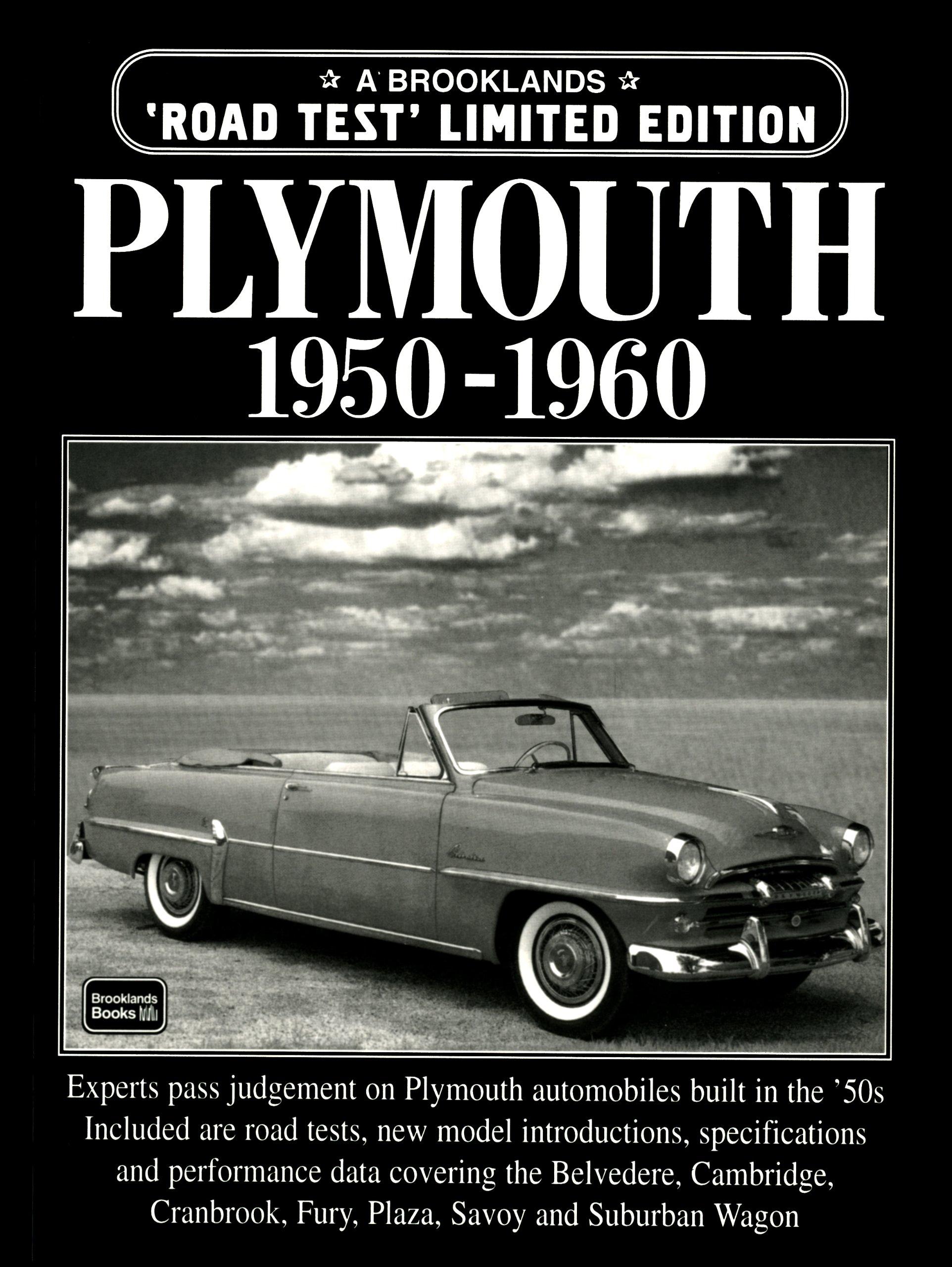 Plymouth 1950 1960 Brooklands Road Test Books Rm Clarke Savoy Sedan 9781855205864