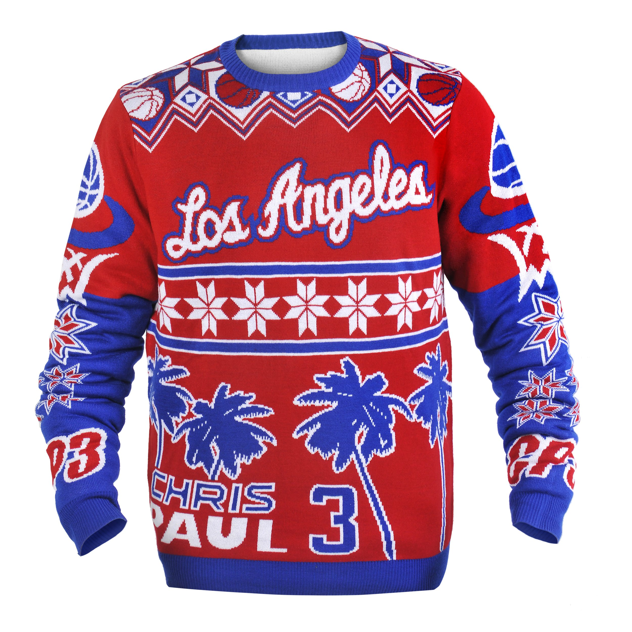 Los Angeles Clippers Paul C. #3 Player Ugly Sweater Extra Large
