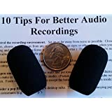 Compete Audio LS35 replacement microphone windscreen (microphone cover) (2-pack) for use with Lightspeed headsets