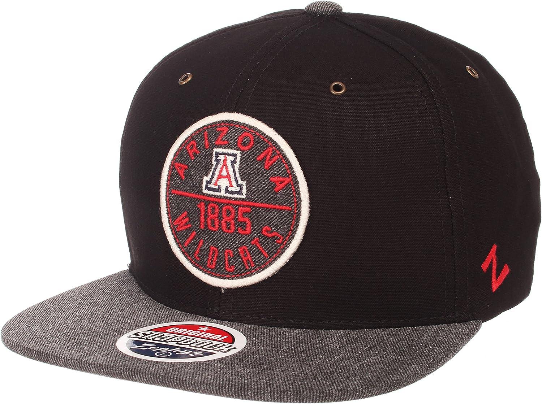 Black//Gray Adjustable Zephyr Adult Men Admiral NCAA Snapback Hat
