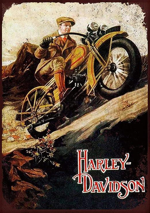 Cartel de metal, 25,4 x 20,3 cm, diseño retro, Harley ...