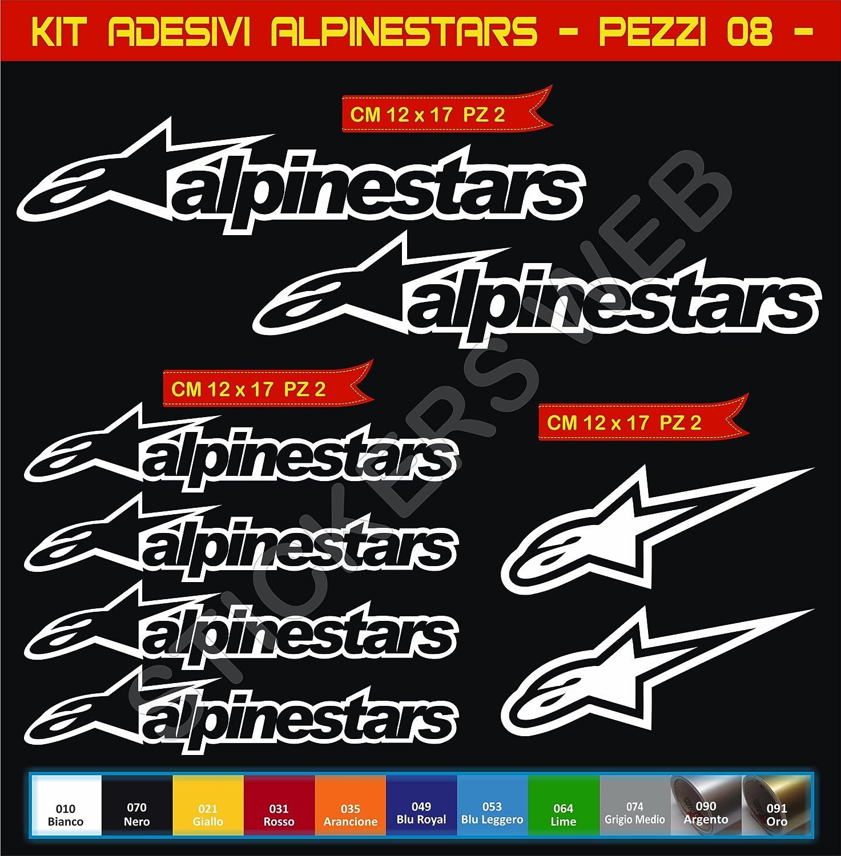 Pimastickerslab Pegatinas Adhesivos Alpinestars para Motos Motocicletas Cod.0645