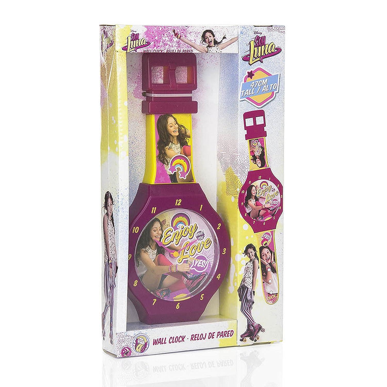 G/én/érique Soy Luna Disney-Ameublement et D/écoration-Horloge Pendule Murale-47cm WD18001