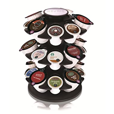 Keurig Coffee Pod Storage 2.0 Neo Carousel, Holds and Organizes 27 K-Cup Pods, Chrome