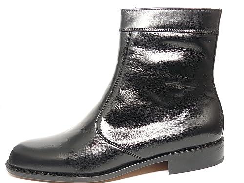 Botin de Vestir Marca DONATTELLI en Piel de Cabra Color Negro 9775 1: Amazon.es: Zapatos y complementos