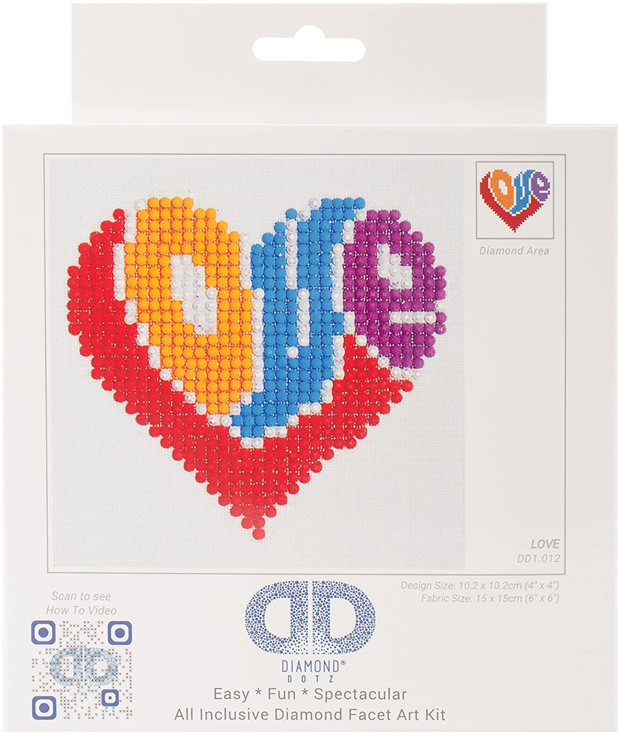 Needleart World Love Diamond Embroidery Kit, None DD1.012