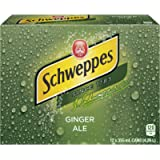 Schweppes Ginger Ale Cans, Caffeine free, 355mL, 12 Pack