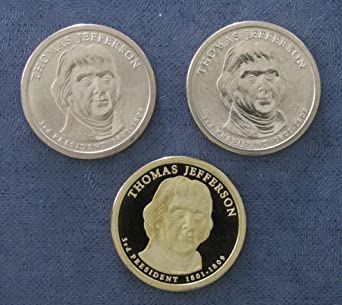2007 S  Thomas Jefferson Presidential Dollar ~ Mint Proof from Proof Set