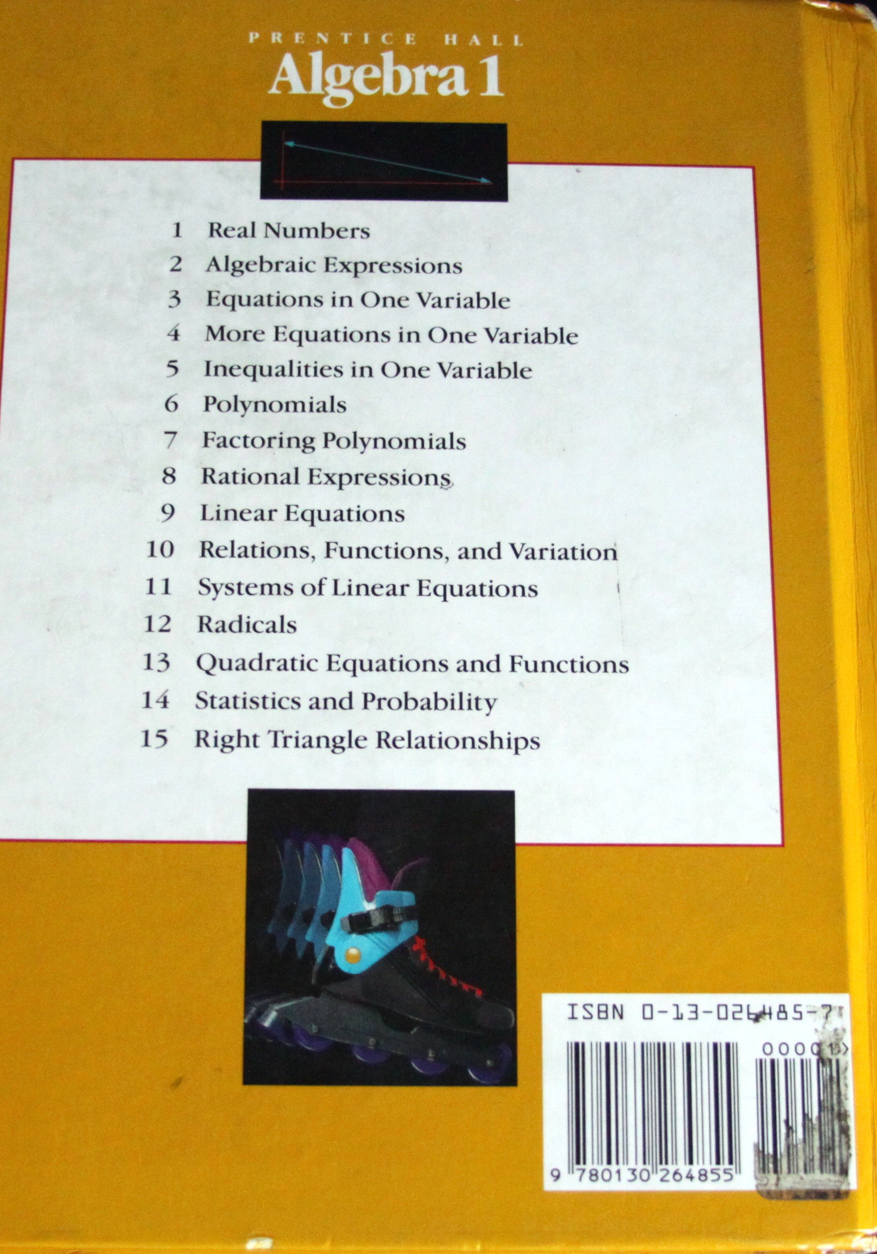 Amazon com: Algebra 1 (9780130264855): Inc  Prentice-Hall: Books