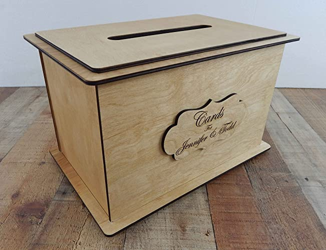 Amazon.com: WoodCard Boxes for wedding reception - Personalized ...