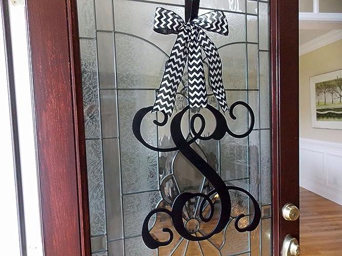 Front Door Monogram Wreath Wreaths For Front Door Monogram Door  Hanger Spring Wreath