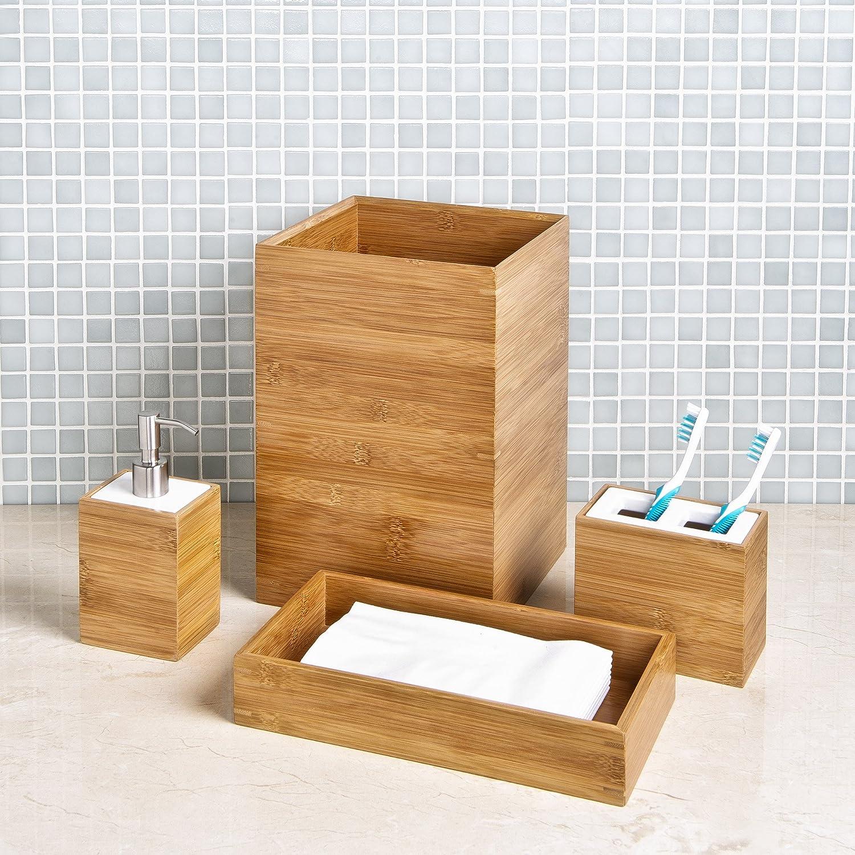 Amazon.com: Seville Classics Bamboo Bath and Vanity Set: Home & Kitchen