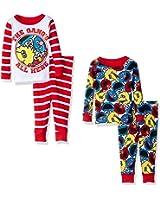 Sesame Street Baby Boys' 4-Piece Cotton Pajama Set