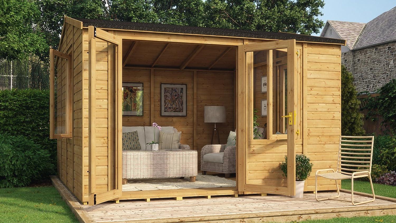 12 FT Diplomat de madera jardín lugar de descanso Offset doble ...