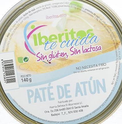 Iberitos Paté Atún Sin Lactosa- Paquete de 10 x 140 gr - Total: 1400 gr: Amazon.es: Alimentación y bebidas