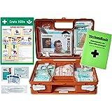 """Erste-Hilfe-Koffer BG -Paket 2- mit""""Aushang 1-Hilfe"""" & Verbandbuch für Betriebe DIN 13157 EN 13157 + DIN 13164 für KFZ - incl. Haut + Wundreinigung"""