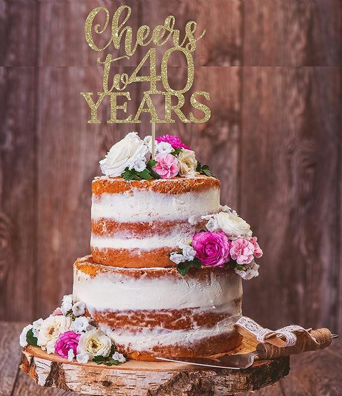 Phenomenal Cheers To 40 Years 40Th Birthday Cake Topper 40 Birthday Personalised Birthday Cards Epsylily Jamesorg