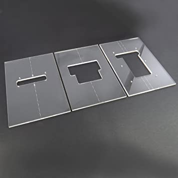 Acrylic floyd rose router template set amazon musical acrylic floyd rose router template set pronofoot35fo Image collections