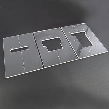 Acrylic Floyd Rose Router Template Set: Amazon.co.uk: Musical ...