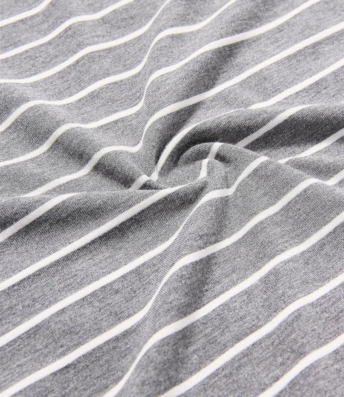 Latuza Mens Summer Sleepwear Striped Design Casual Pajama Set