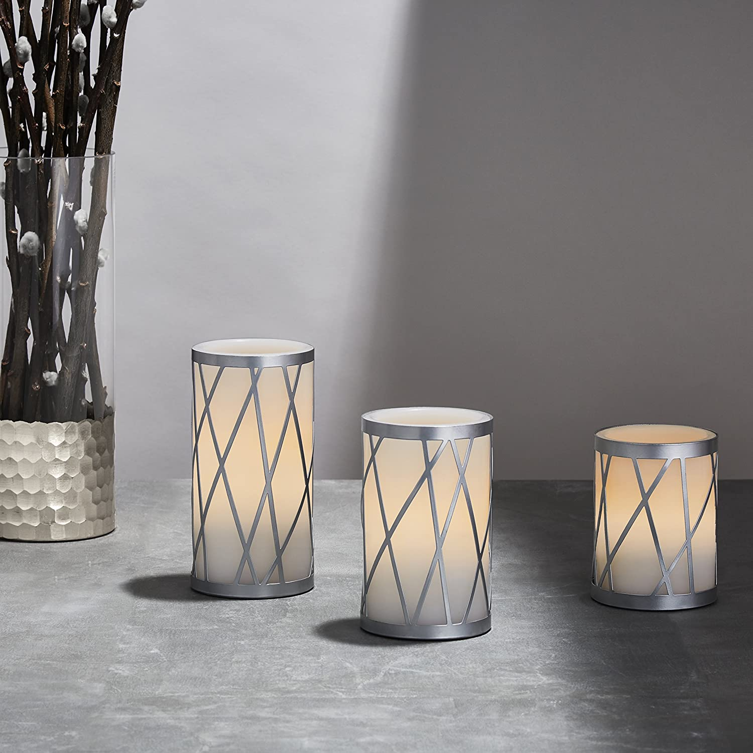 flameless candles | white