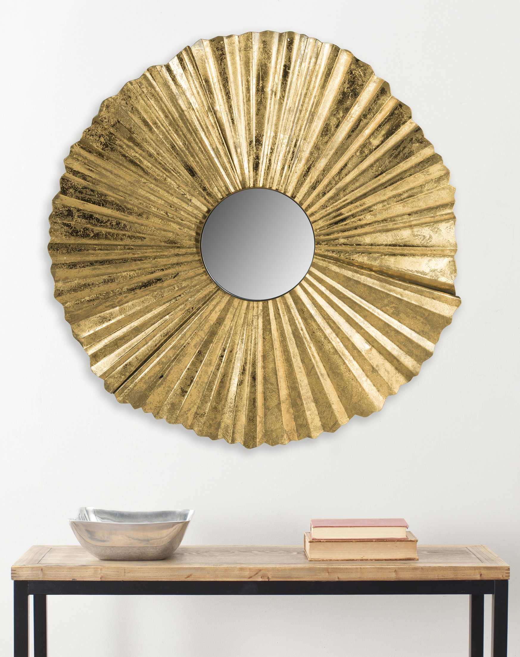 Safavieh MIR4079A Not Applicable Home Collection Mae Gold Fan Mirror