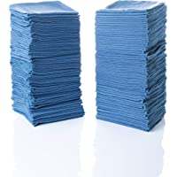 "Simpli-Magic 79185 Shop Towels 14""x12"", Blue, 100 Pack"