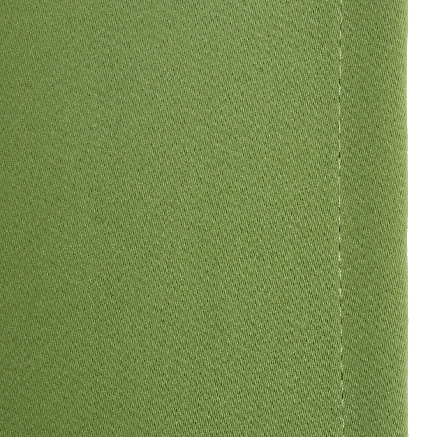 Deconovo 1 Panel Super Soft High Density Blinds Grommet Top Insulated Thermal Blackout Curtain for Kitchen Grass Green 52x95 Inch