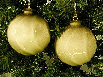 Amazon Com Blown Glass Antique Silver Kugel Christmas Ornament