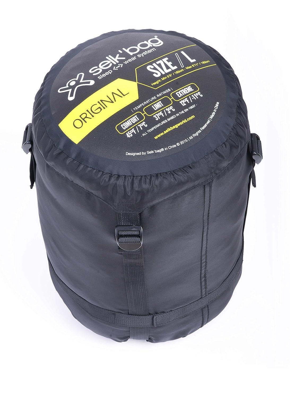 SELKŽBAG Saco de dormir modelo Original 5G Color negro: Amazon.es: Deportes y aire libre