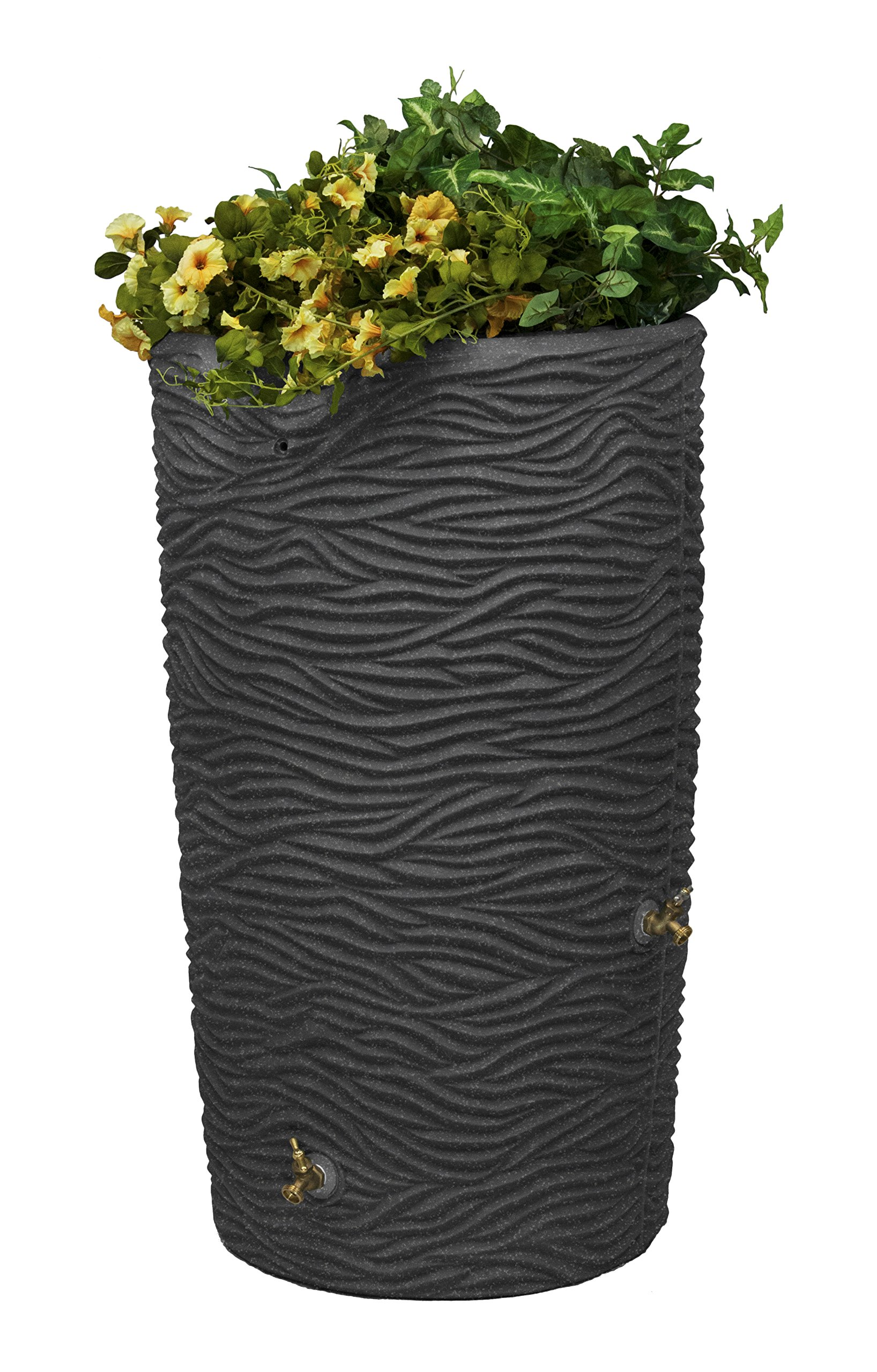 Good Ideas IMP-L65-DAR Impressions Palm Rain Saver, 65-Gallon, Dark Granite