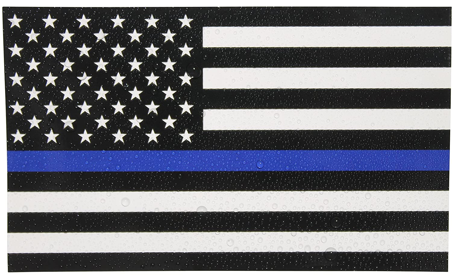 Amazoncom Thin Blue Line Flag Decals X In Black White And - Boat decalsamerican flag boat decals usa flag boat graphics xtreme digital