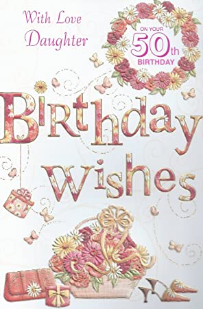 Amazon With Love Daughter On Your 50th Birthday Card Toys Games