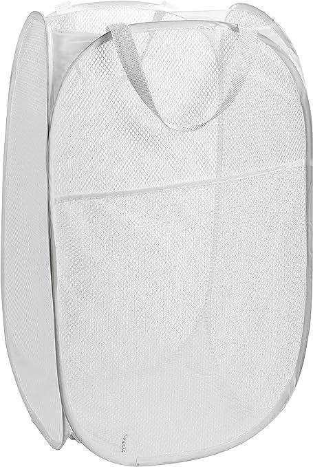 1 x Laundary Bag Foldable Pop Up Mesh Washing Laundry Basket Bag ToyStorage