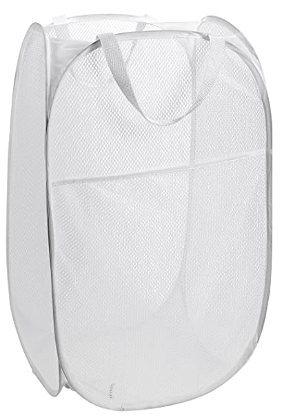 b37838fe376e Mesh Popup Laundry Hamper - Portable, Durable Handles, Collapsible for  Storage and Easy to Open. Folding Pop-Up Clothes Hampers Are Great for the  Kids ...