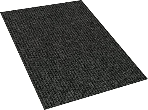 Heavy Duty Durable All Weather Indoor Outdoor Non Slip Entrance Mat Rugs and Runners for Office Business Building Home Garage Front Door 6 x 25 , Charcoal