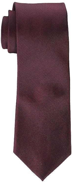 Calvin Klein Corbata sólida plateada para hombre - Rojo - X-largo ...