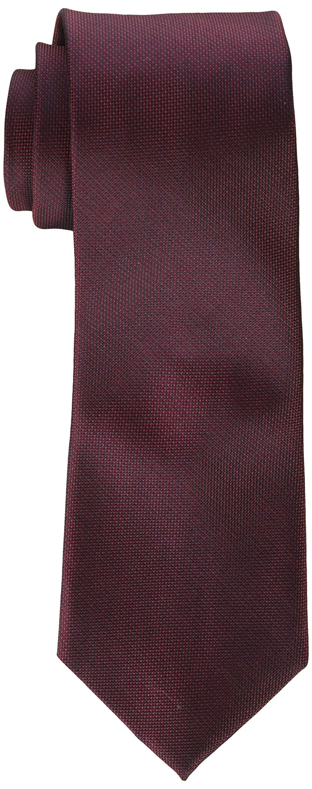 Calvin Klein Men's Silver Spun Solid Tie, Wine X-Long