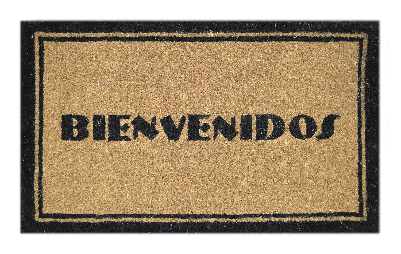 Amazon.com : Imports Decor Printed Coir Doormat, Bienvenidos, 18 ...