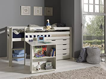 Vipack picohsbuks14 pino lit mezzanine avec bureau et commode 4